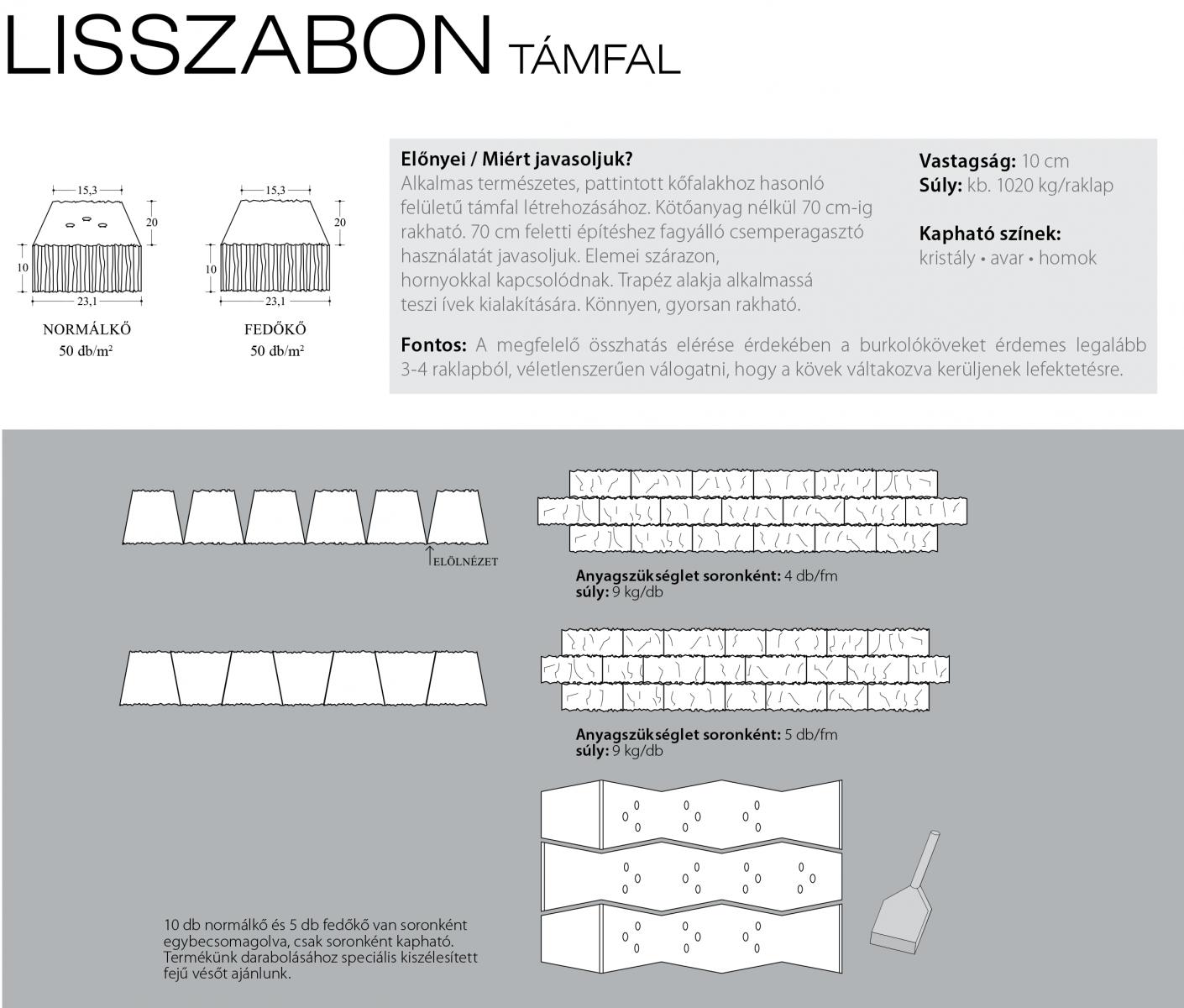 Lisszabon támfal technikai információi