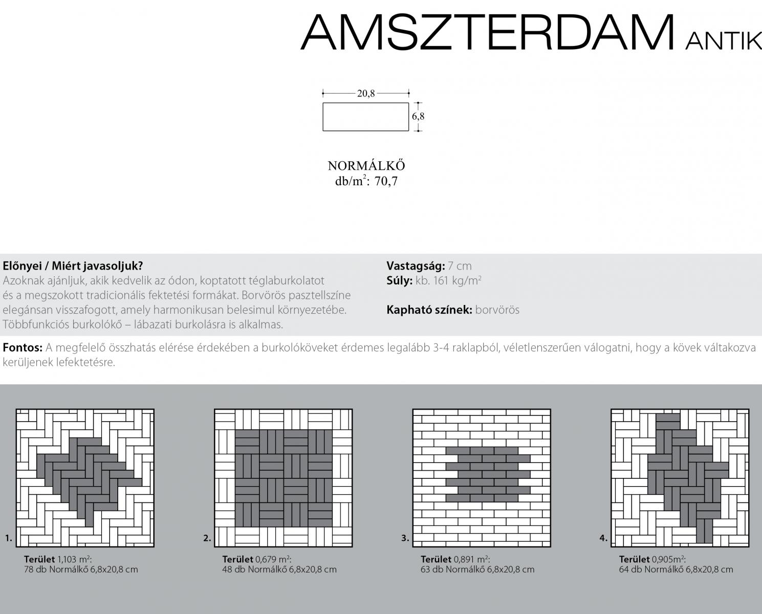 Amszterdam ódon technikai információi