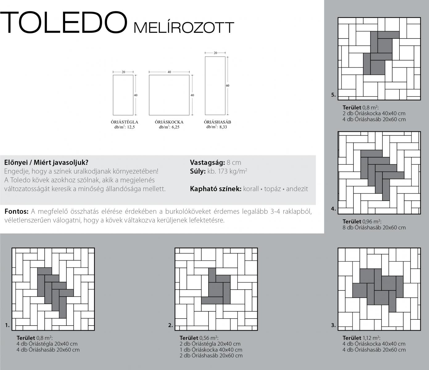 Toledo Vario technikai információi